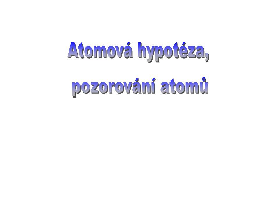 Atomová hypotéza, pozorování atomů