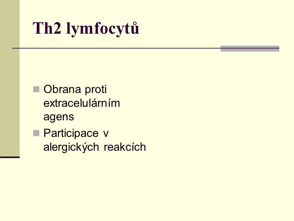Th2 lymfocytů Obrana proti extracelulárním agens