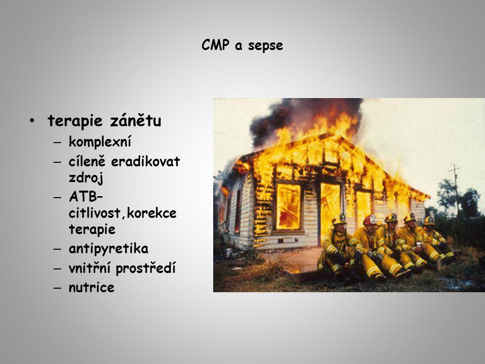 terapie zánětu CMP a sepse komplexní cíleně eradikovat zdroj