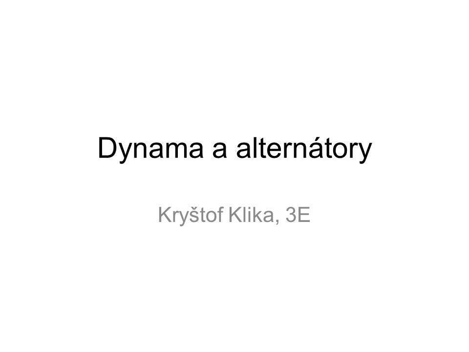 Dynama a alternátory Kryštof Klika, 3E