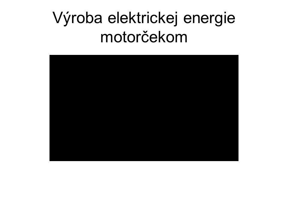 Výroba elektrickej energie motorčekom