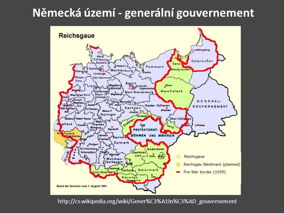 Německá území - generální gouvernement