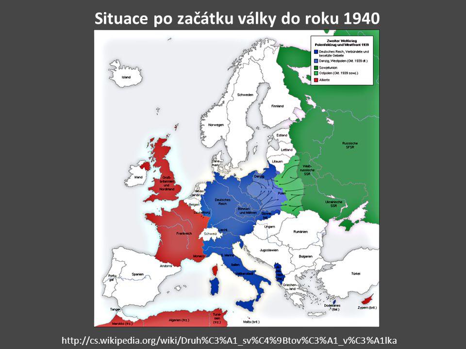 Situace po začátku války do roku 1940