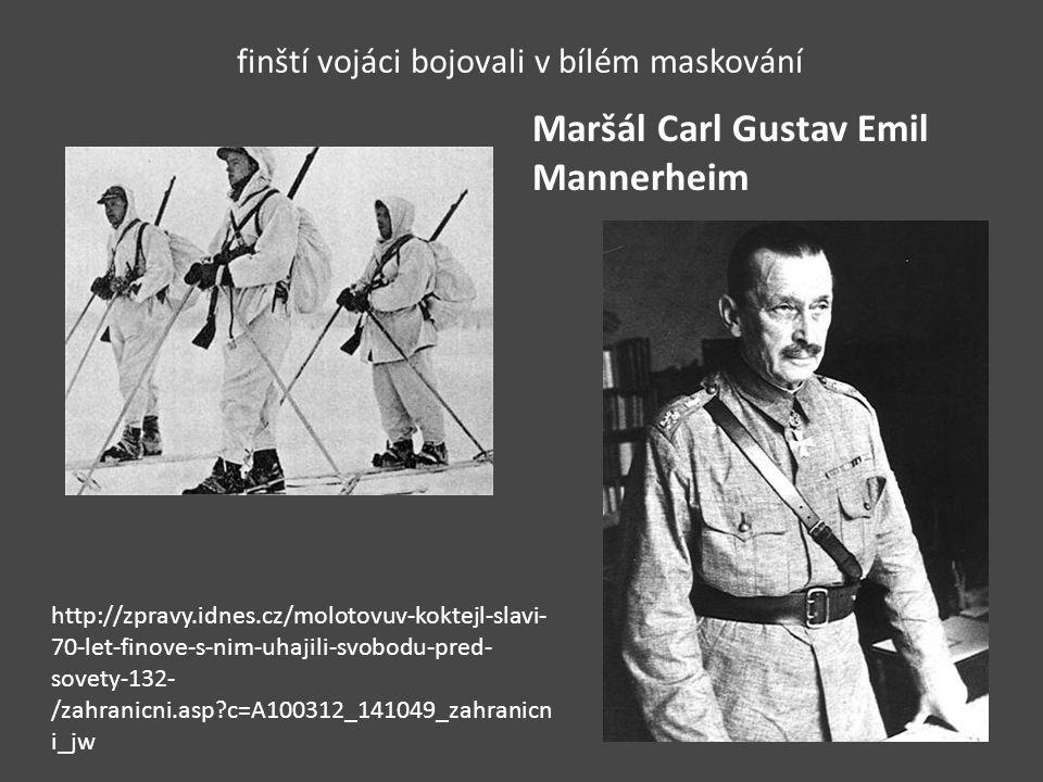 finští vojáci bojovali v bílém maskování