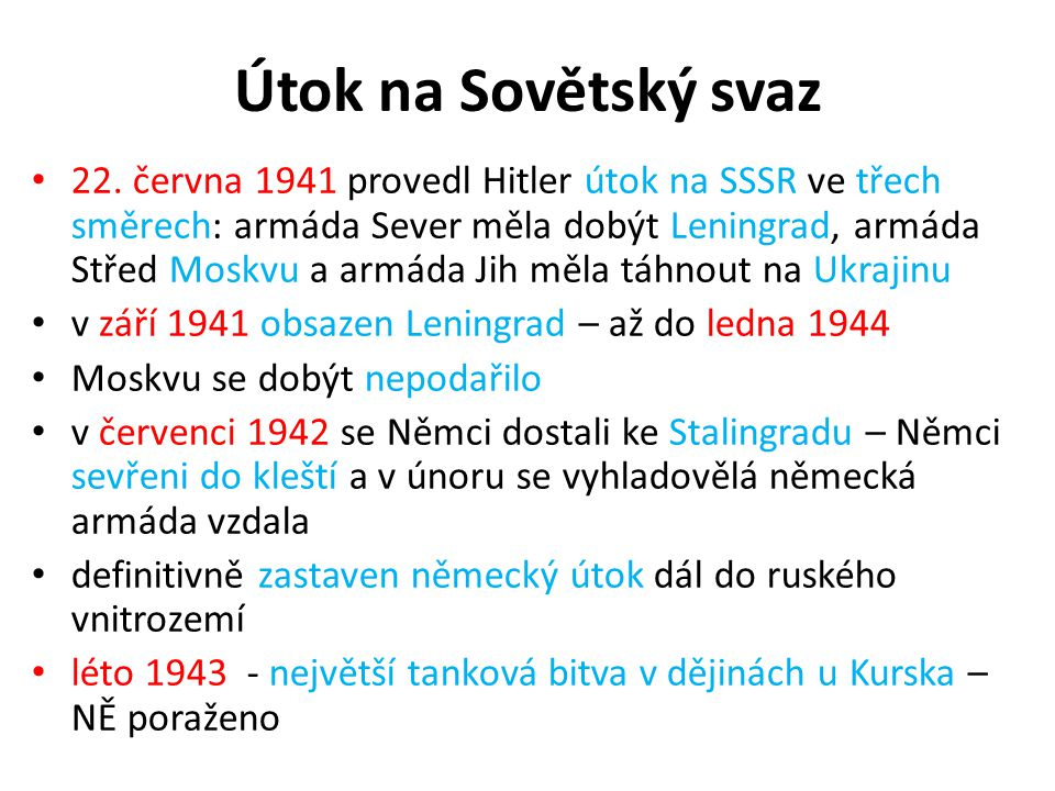 Útok na Sovětský svaz