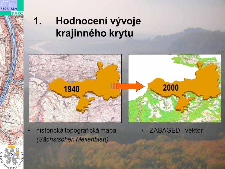 Hodnocení vývoje krajinného krytu 2000 1940