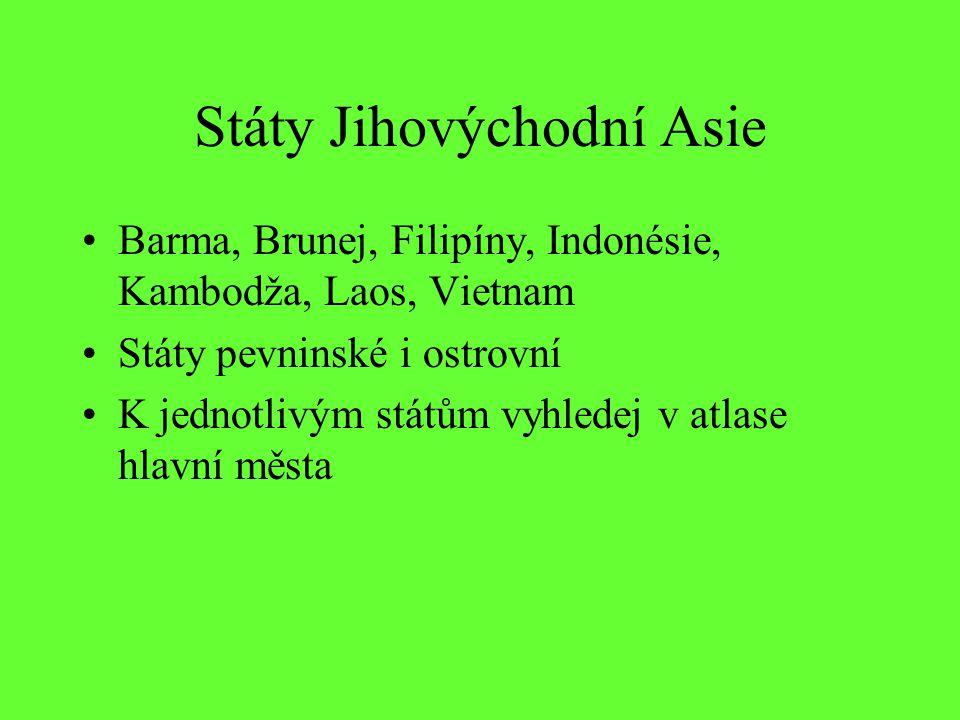 Státy Jihovýchodní Asie