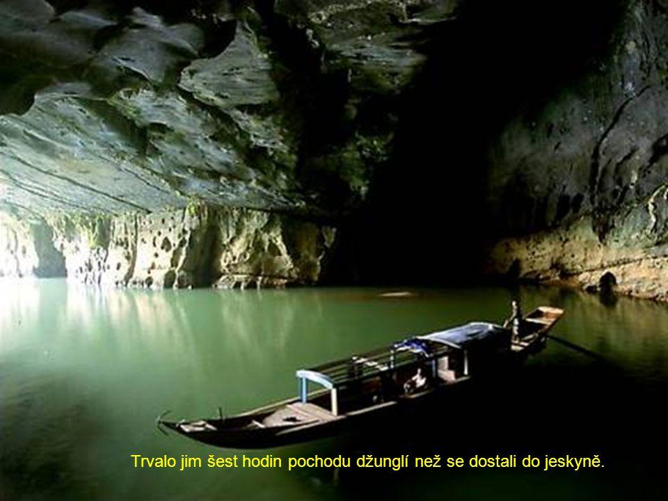 Trvalo jim šest hodin pochodu džunglí než se dostali do jeskyně.