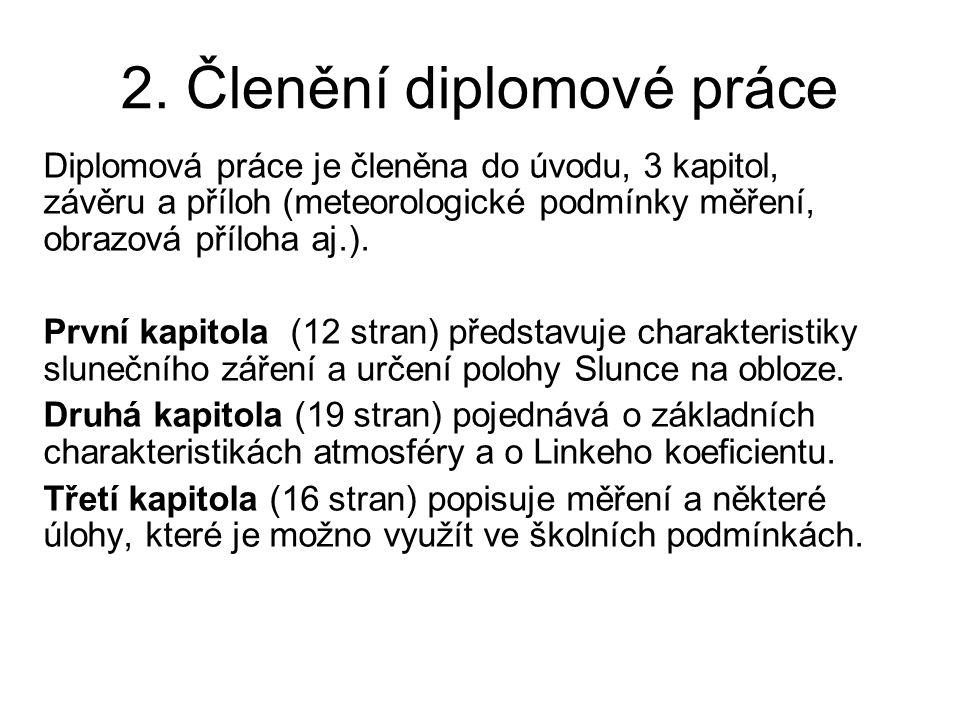 2. Členění diplomové práce