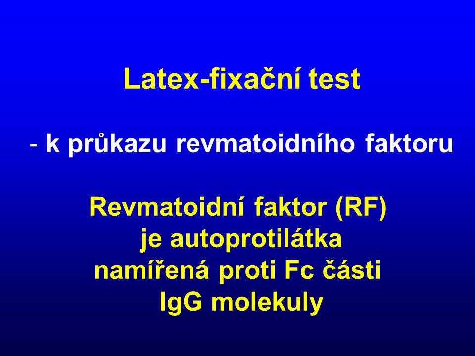 Latex-fixační test k průkazu revmatoidního faktoru