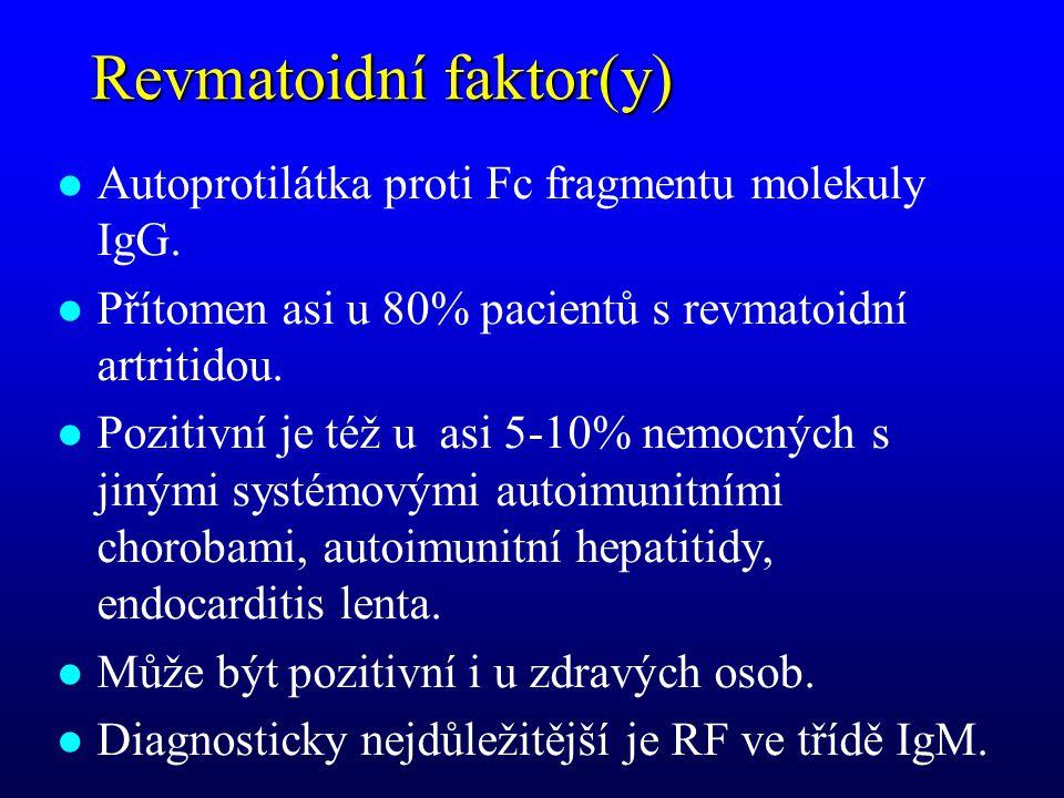 Revmatoidní faktor(y)