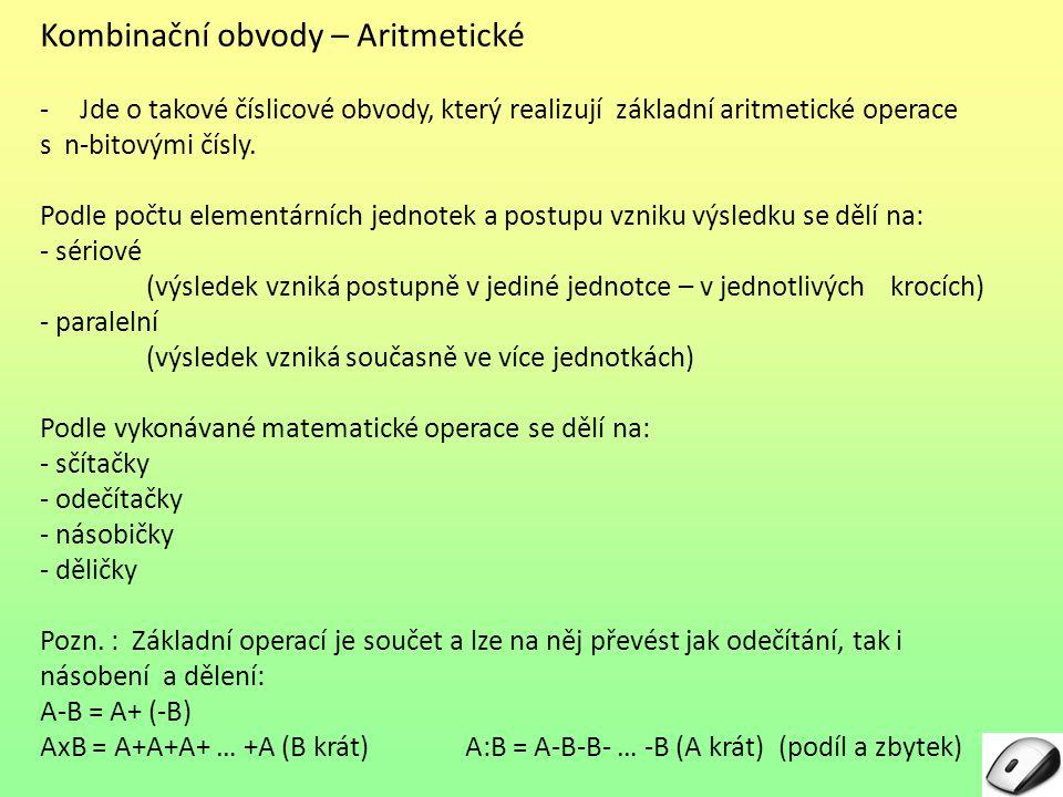 Kombinační obvody – Aritmetické