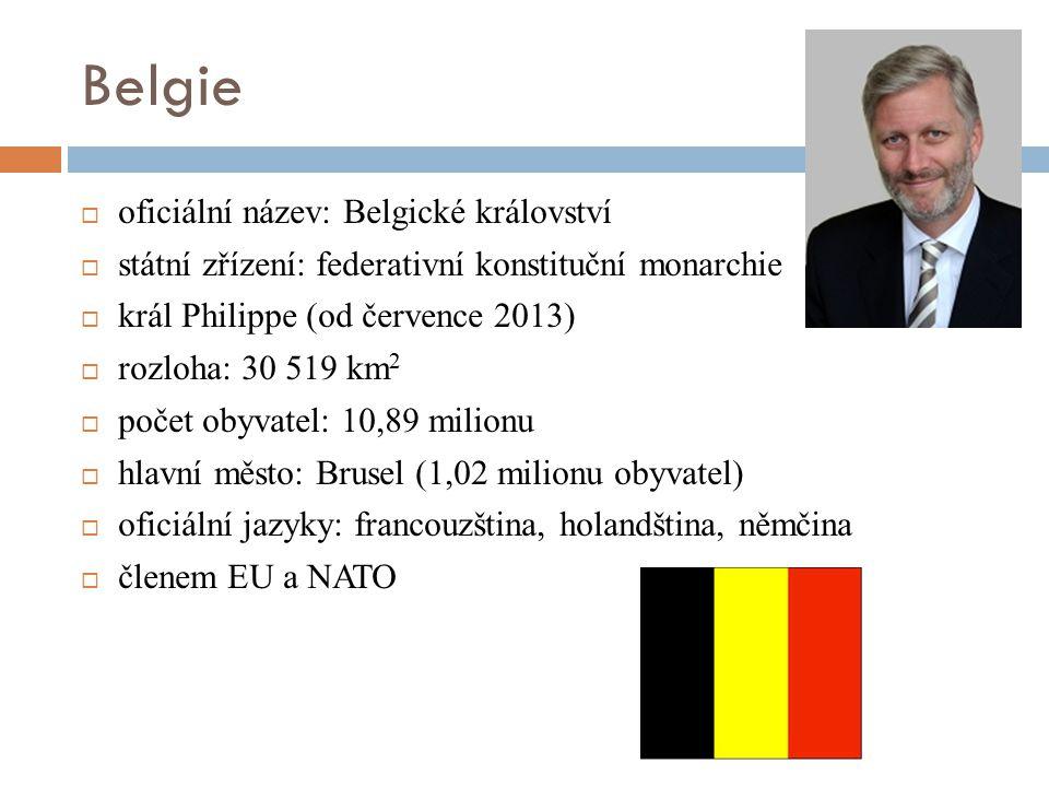 Belgie oficiální název: Belgické království