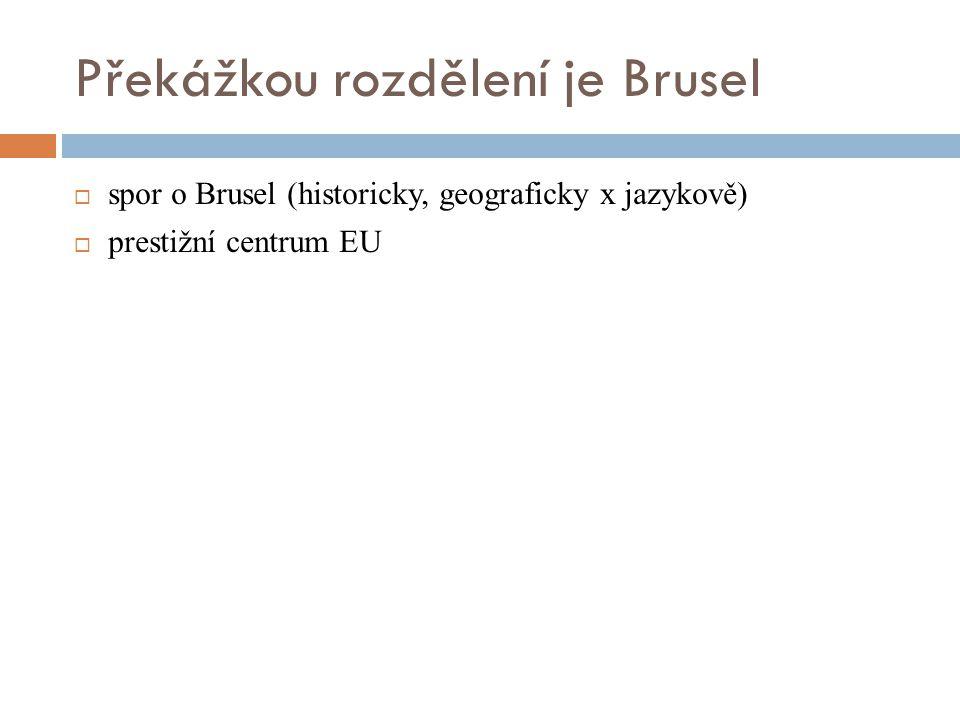 Překážkou rozdělení je Brusel