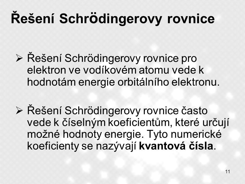 Řešení Schrödingerovy rovnice