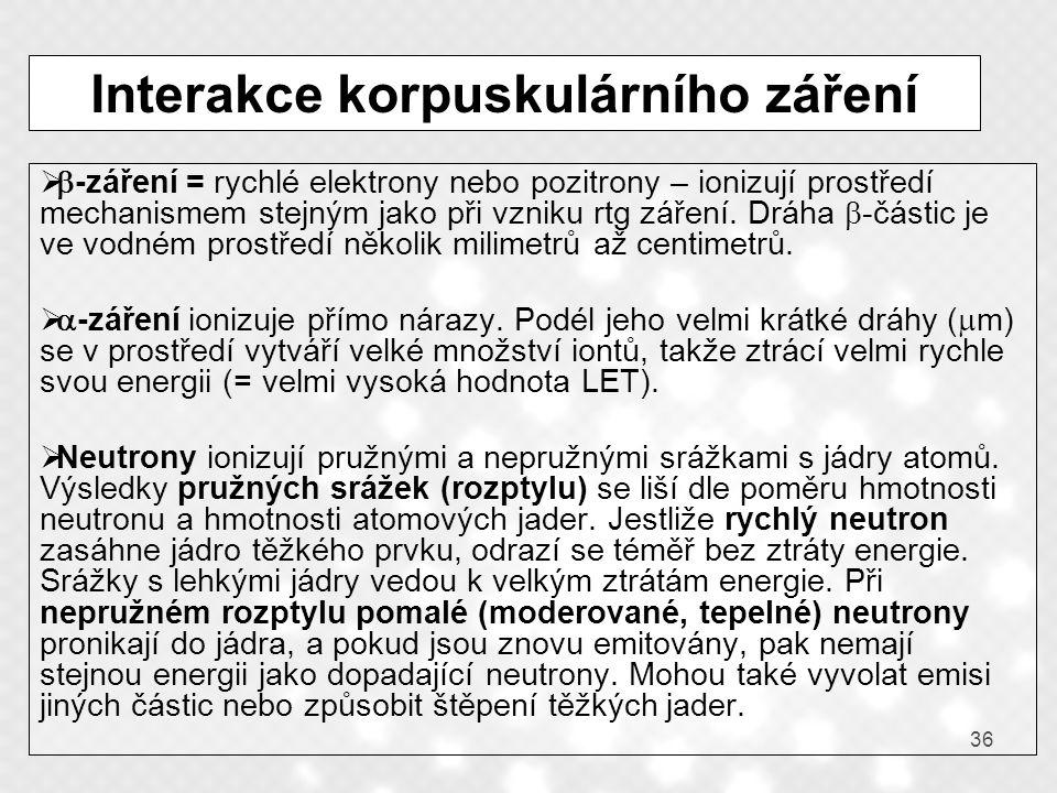 Interakce korpuskulárního záření