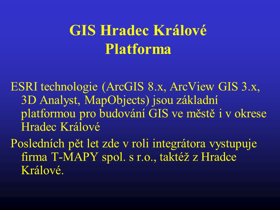 GIS Hradec Králové Platforma