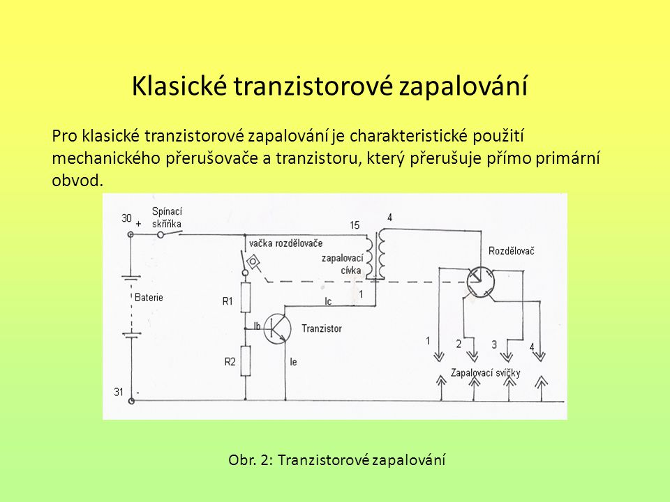 Klasické tranzistorové zapalování