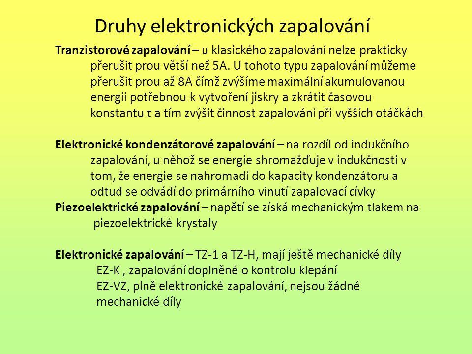Druhy elektronických zapalování