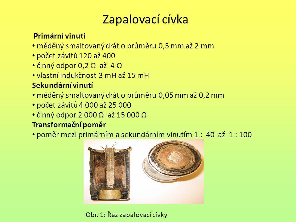 Zapalovací cívka měděný smaltovaný drát o průměru 0,5 mm až 2 mm