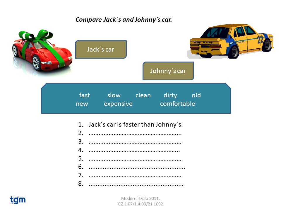 Compare Jack´s and Johnny´s car.