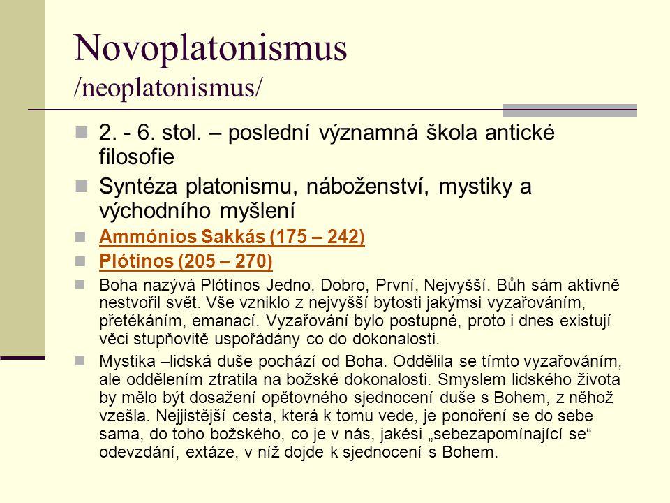 Novoplatonismus /neoplatonismus/