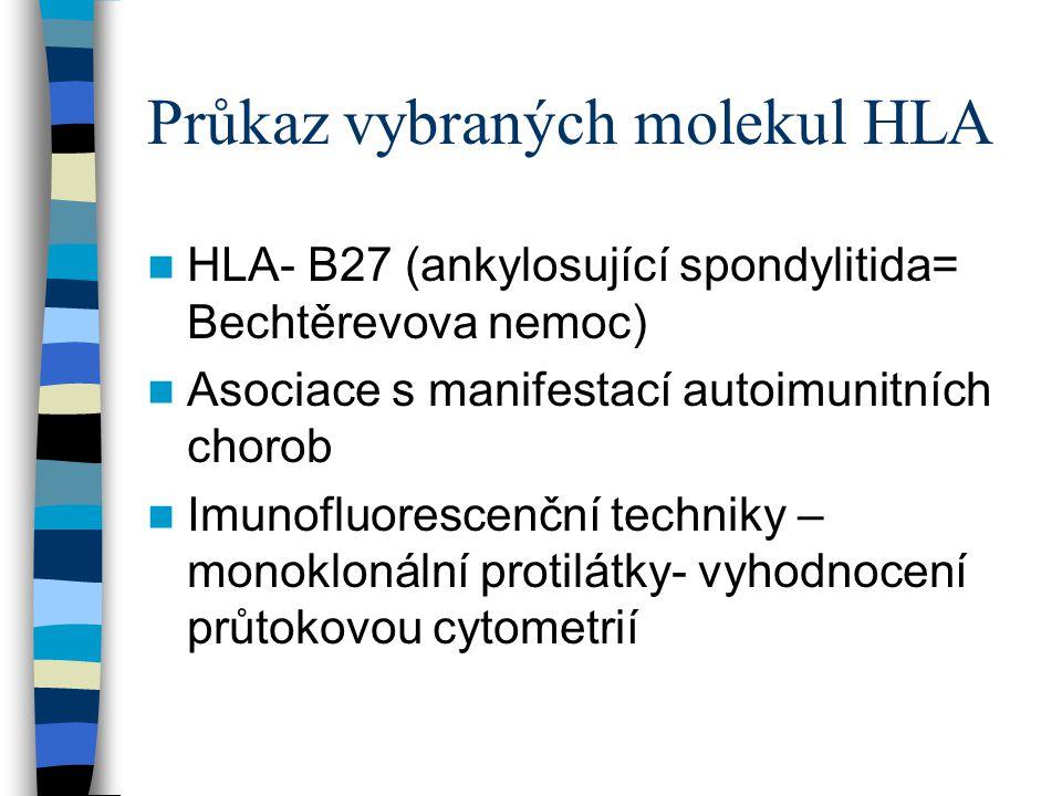 Průkaz vybraných molekul HLA
