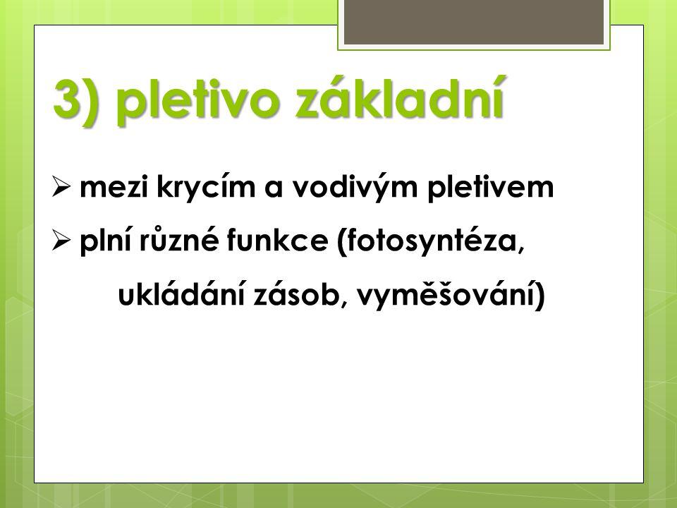 3) pletivo základní mezi krycím a vodivým pletivem