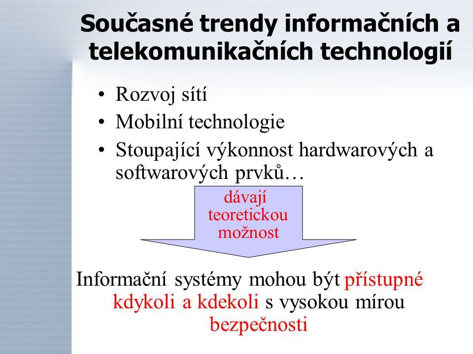 Současné trendy informačních a telekomunikačních technologií