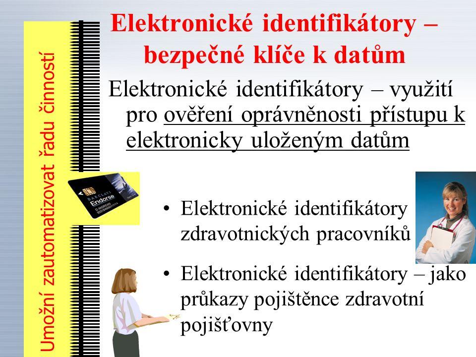Elektronické identifikátory – bezpečné klíče k datům