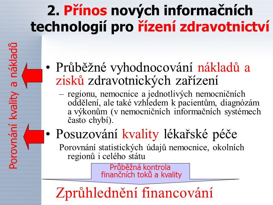 2. Přínos nových informačních technologií pro řízení zdravotnictví
