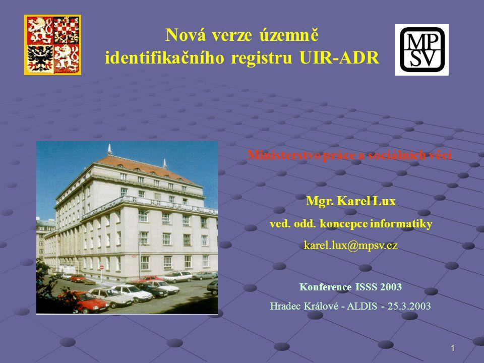 identifikačního registru UIR-ADR