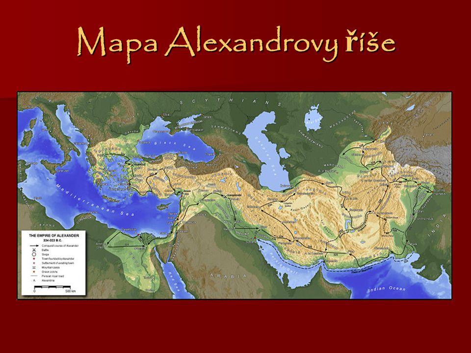 Mapa Alexandrovy říše