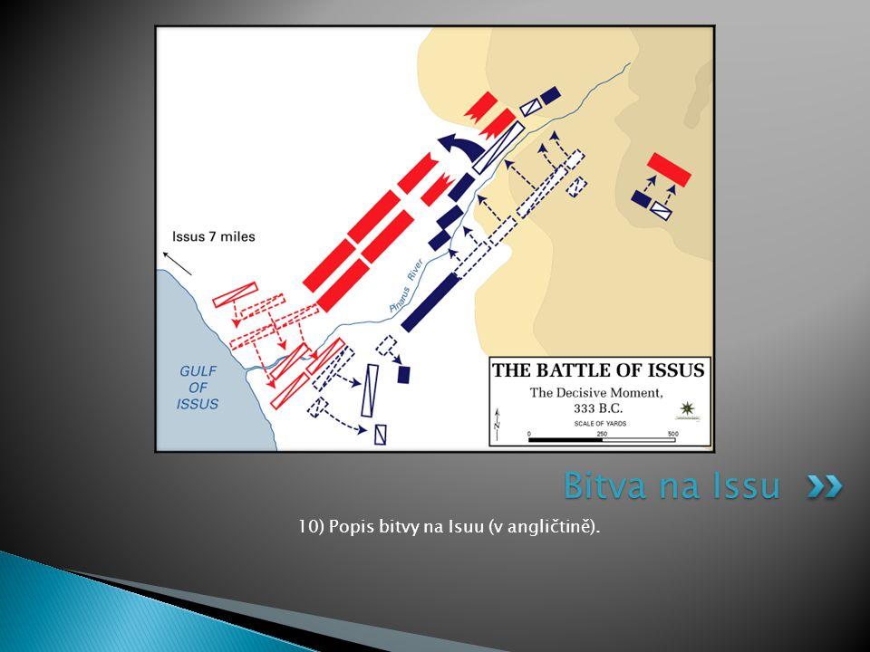 10) Popis bitvy na Isuu (v angličtině).