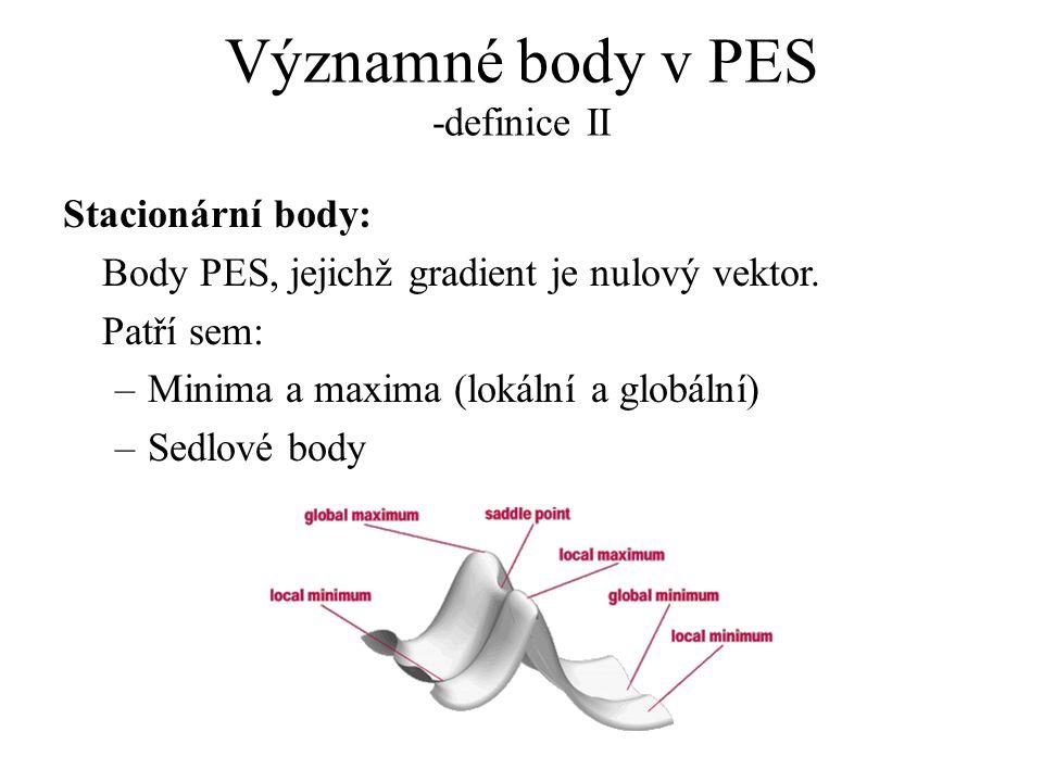 Významné body v PES -definice II