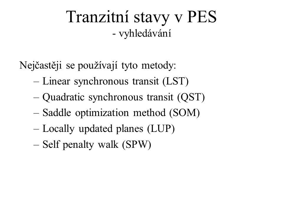 Tranzitní stavy v PES - vyhledávání