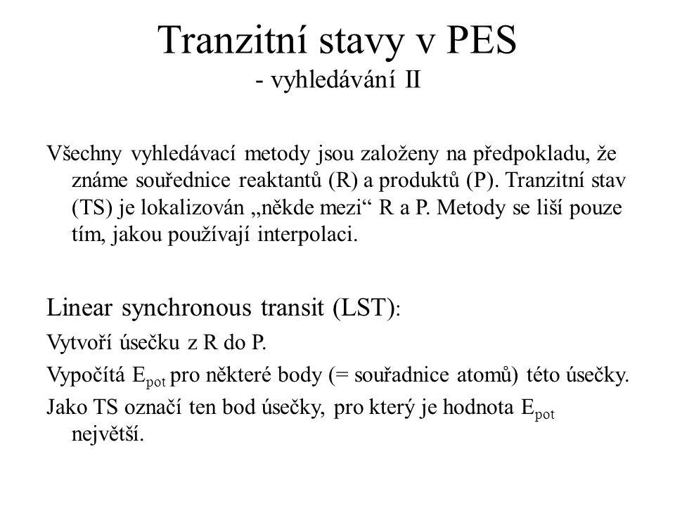 Tranzitní stavy v PES - vyhledávání II