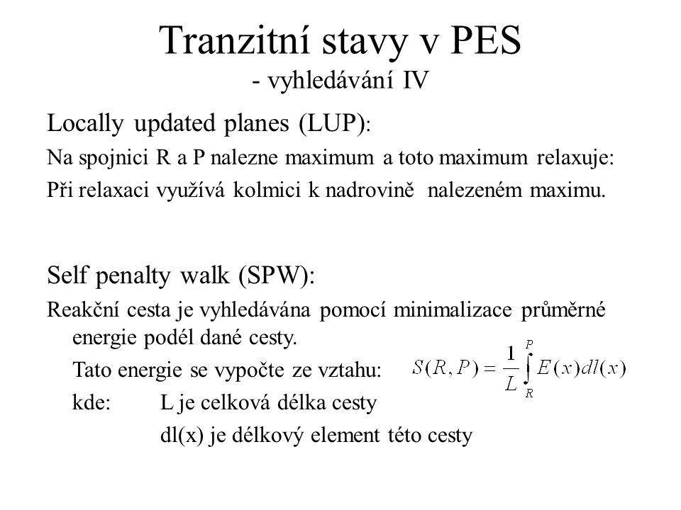Tranzitní stavy v PES - vyhledávání IV