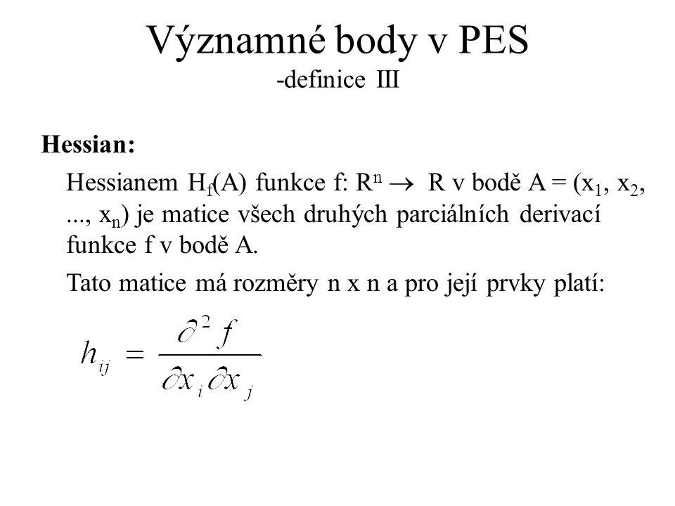 Významné body v PES -definice III