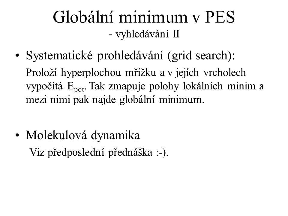 Globální minimum v PES - vyhledávání II