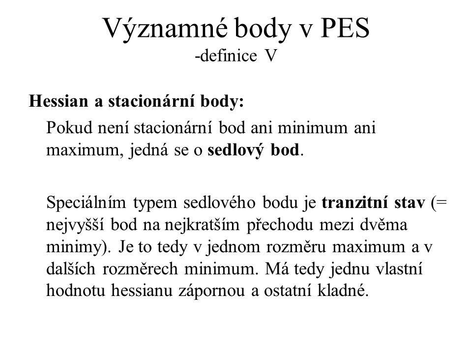 Významné body v PES -definice V