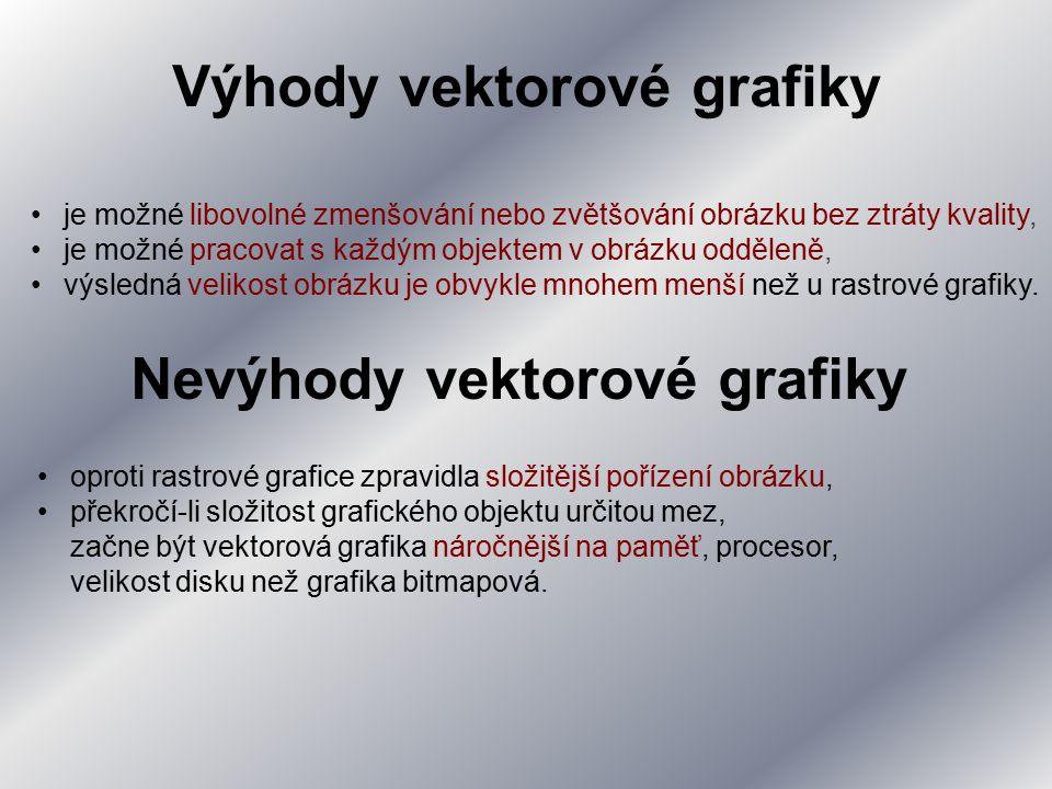 Výhody vektorové grafiky