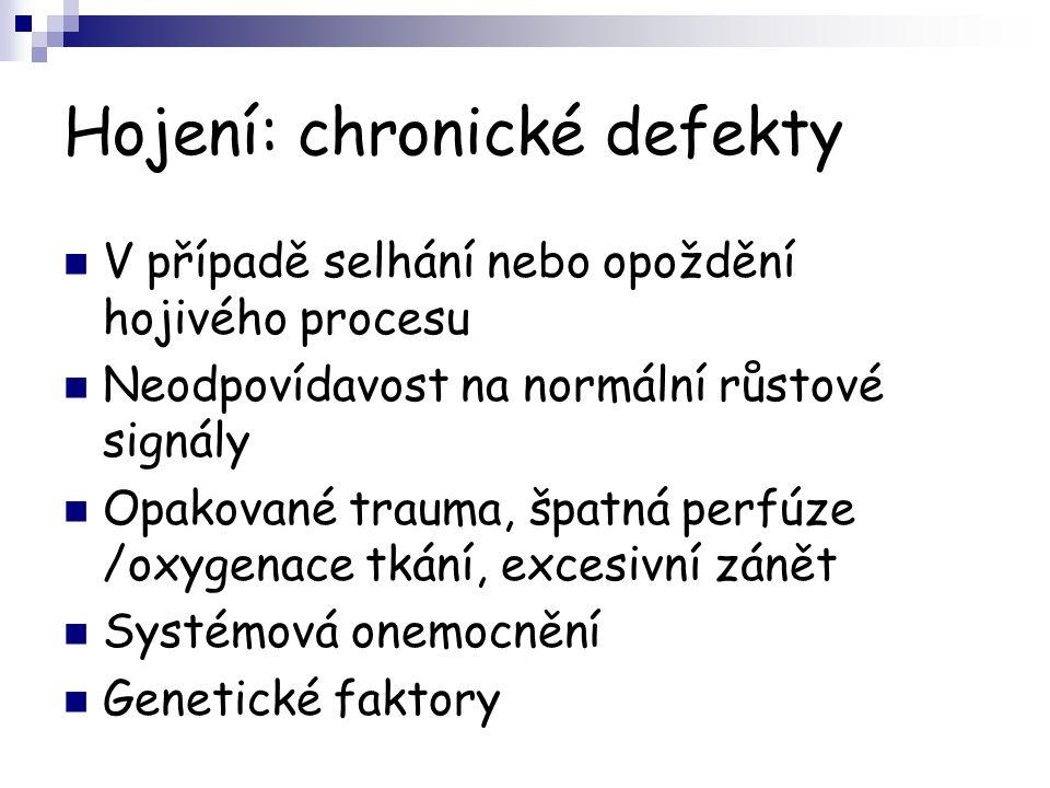 Hojení: chronické defekty