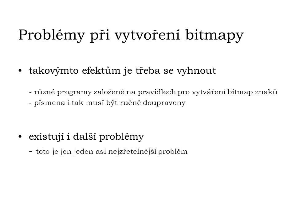 Problémy při vytvoření bitmapy