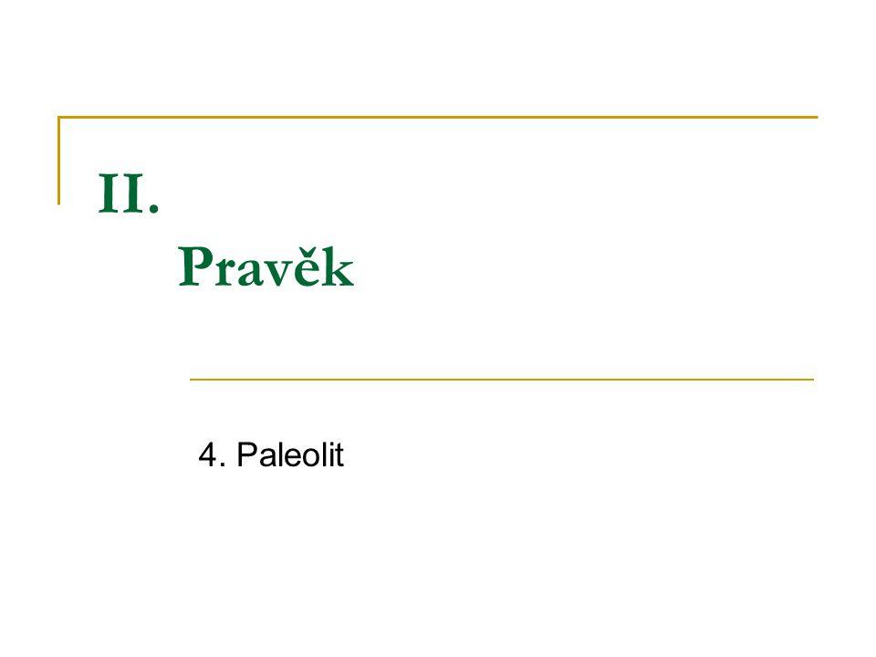 II. Pravěk 4. Paleolit