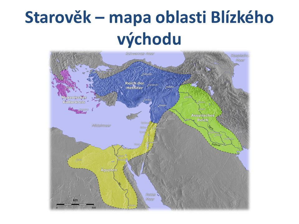 Starověk – mapa oblasti Blízkého východu