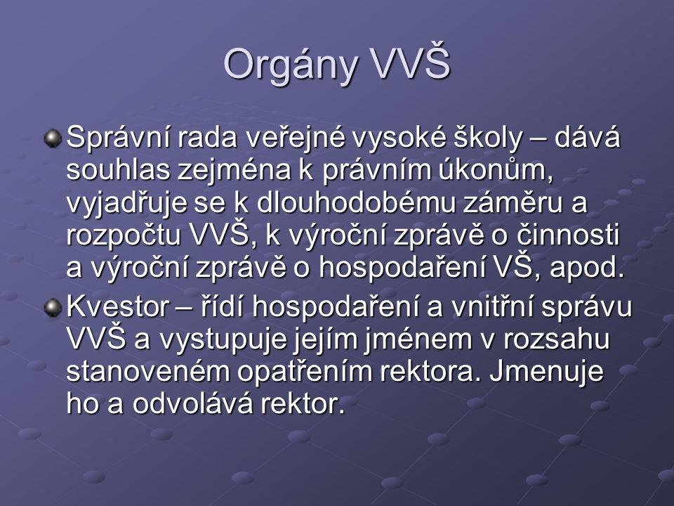 Orgány VVŠ