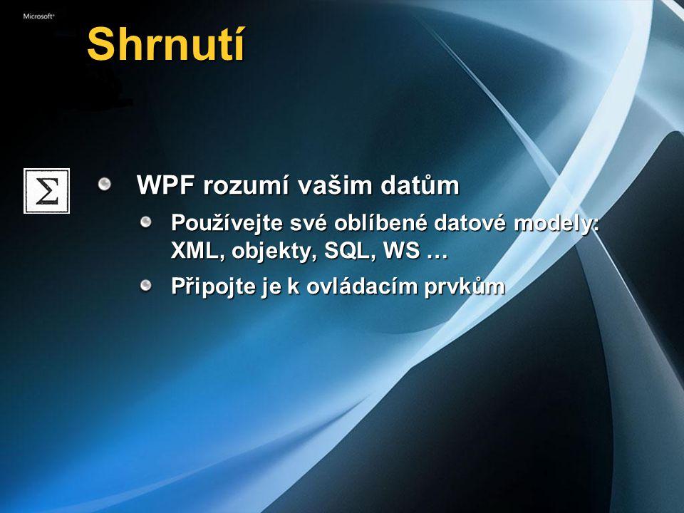 Shrnutí WPF rozumí vašim datům