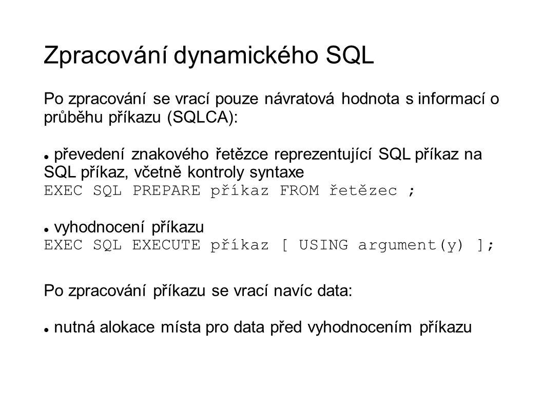Zpracování dynamického SQL