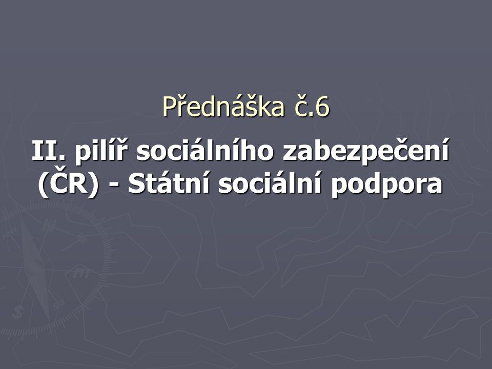 II. pilíř sociálního zabezpečení (ČR) - Státní sociální podpora